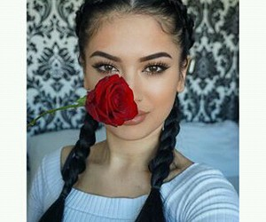 beautiful, hairstyle, and make up image