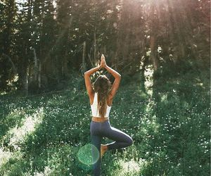 yoga, fitness, and nature image
