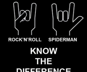spiderman, rock, and rock n roll image