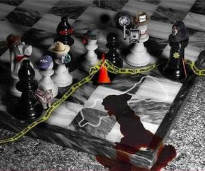 murder, chess, and death image