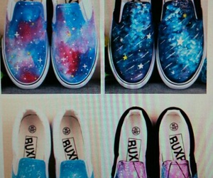 blue, galaxies, and loafers image