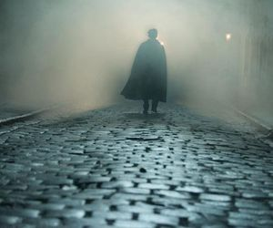 cobbles, fog, and london image