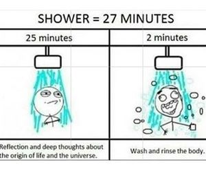 shower, funny, and life image