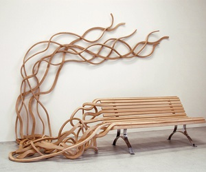 bench, design, and art image