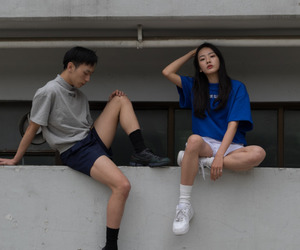 asian, couple, and grunge image