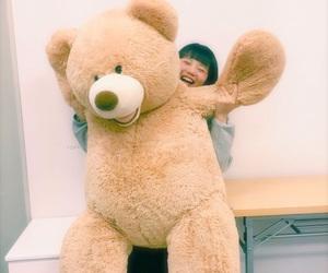 bear, girl, and smile image