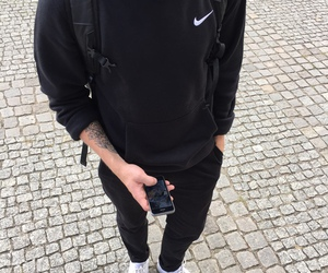 nike, black, and boy image