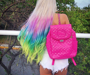 color hair, girl, and style image