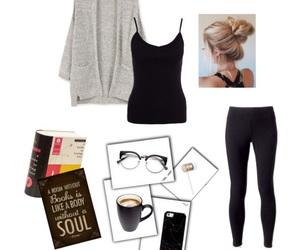 black, books, and cardigan image