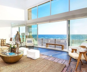 beach, house, and interior image