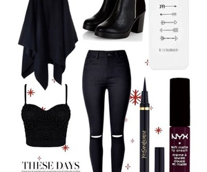 boots, black, and outfit image