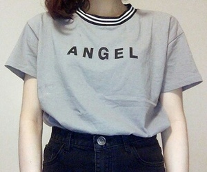 angel, fashion, and gray image