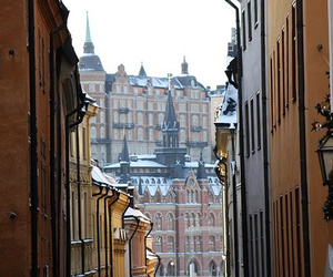 old town and stockholm image