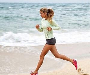 beach, fitness, and running image