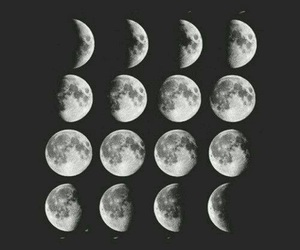 black and white, lua, and nature image