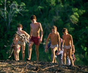 1990, lord of the flies, and william golding image