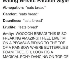 divergent, amity, and bread image