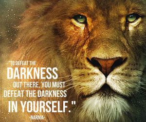 narnia, lion, and quote image