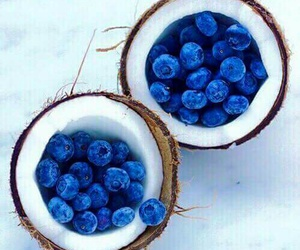food, coconut, and blueberry image