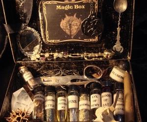 magic, magic box, and potion image