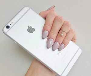 iphone, nails, and silver image
