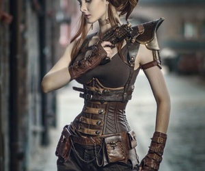 girl and steampunk image