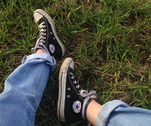 converse, grunge, and green image