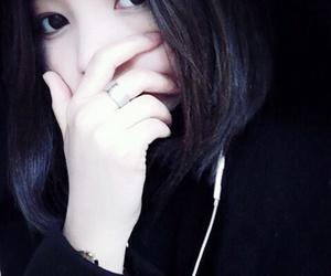 asian, black, and dark image