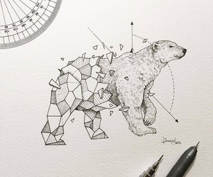 art, drawing, and bear image