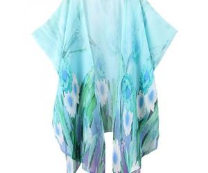cardigan, kimono, and light blue image