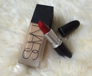 Foundation, lipstick, and mac image