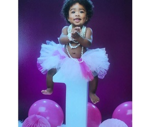 baby girl, pink, and white image
