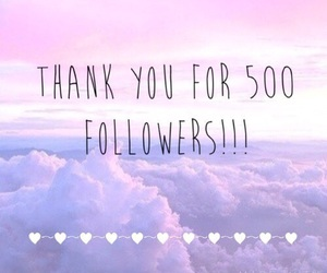 followers, 500, and thank you image