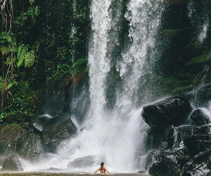 nature, waterfall, and adventure image