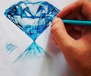 art, diamond, and drawing image