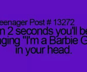teenager post, barbie, and funny image