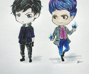 drawing, warlock, and tmi image