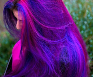 cabelo, color hair, and long hair image