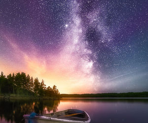 nature, landscape, and stars image