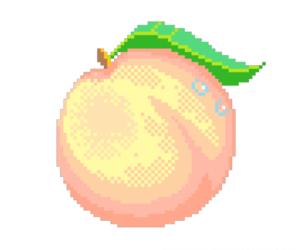 peach, pixel, and aesthetic image