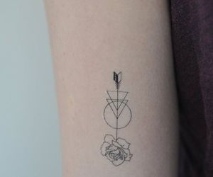 arrow, tattoo, and small tattoo image