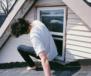 boy, Harry Styles, and window image