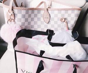bag, pink, and goals image