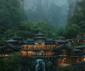 nature, architecture, and asia image