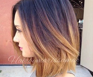 hair, short hair, and ombre image