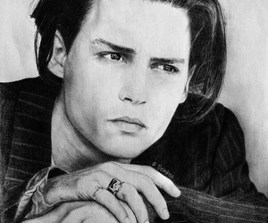 actor, art, and johnny depp image