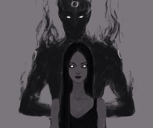 art, dark, and black image
