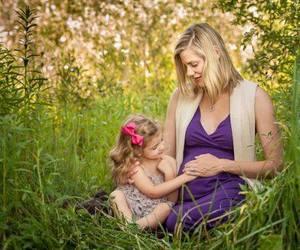 family, girl, and mom image