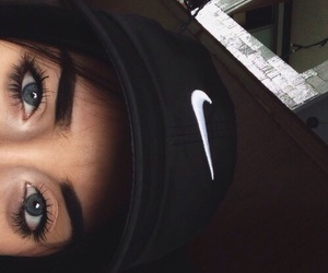 nike, girl, and eyes image