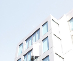 blue, pastel, and building image